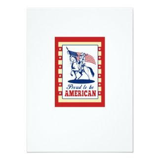 Saludo americano del poster del Día de la Invitación 13,9 X 19,0 Cm