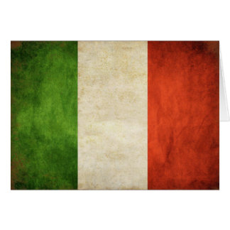Saludo cad con la bandera del italiano del vintage felicitación