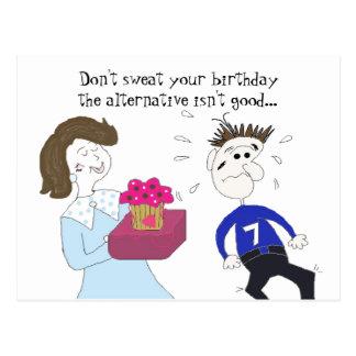Saludo chistoso del cumpleaños postal
