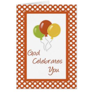 Saludo cristiano del cumpleaños tarjeta