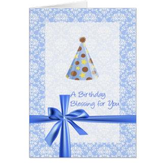 Saludo cristiano del cumpleaños tarjeta de felicitación