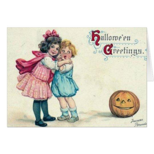 Saludo de Halloween del vintage Tarjeta De Felicitación