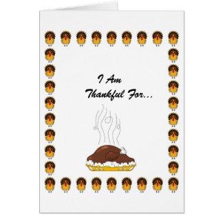 Saludo de la acción de gracias tarjeta de felicitación