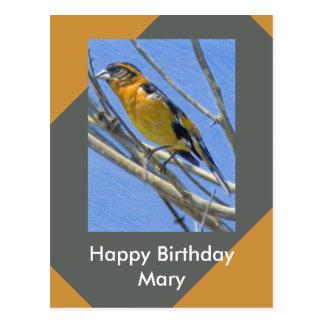 Saludo de la plantilla del cumpleaños del dibujo postal