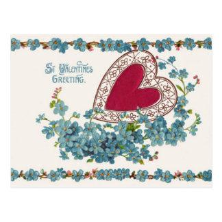 Saludo de la tarjeta del día de San Valentín con Postal