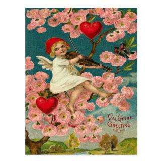 Saludo de la tarjeta del día de San Valentín Postal