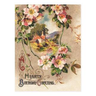 Saludo de la tarjeta del feliz cumpleaños del
