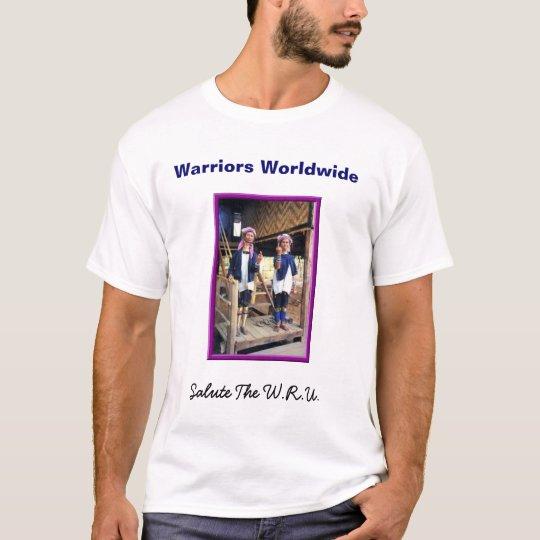 Saludo de los WRU-Guerreros Camiseta