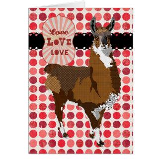 Saludo de oro del amor de la llama tarjeta de felicitación