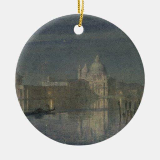 Saludo de Santa María Della, Venecia, claro de lun Ornamento De Navidad