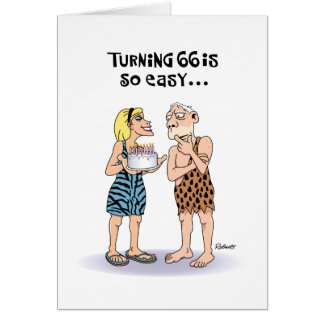 Saludo de torneado de 66 cumpleaños tarjeta