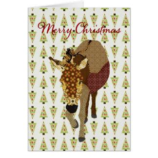 Saludo del árbol de navidad de Moses Tarjeta De Felicitación