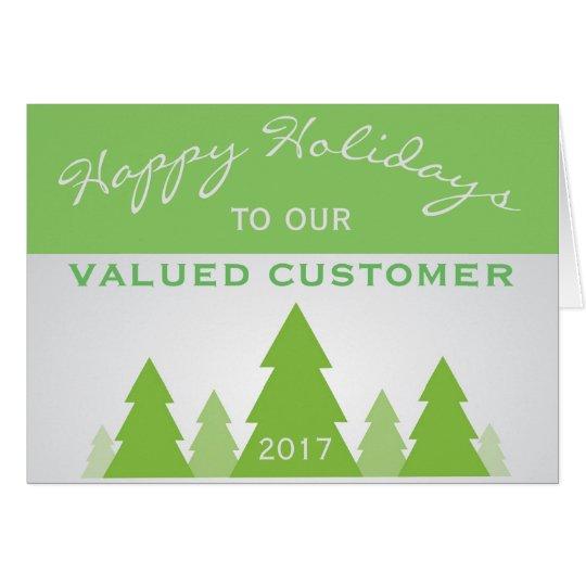 Saludo del cliente empresa del pino del navidad tarjeta pequeña