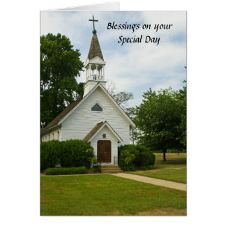 Saludo del cumpleaños de las bendiciones tarjeta de felicitación