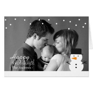 Saludo del día de fiesta de la familia con la tarjeta de felicitación