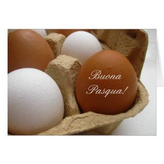 saludo del huevo de Pascua del italiano Tarjeta De Felicitación