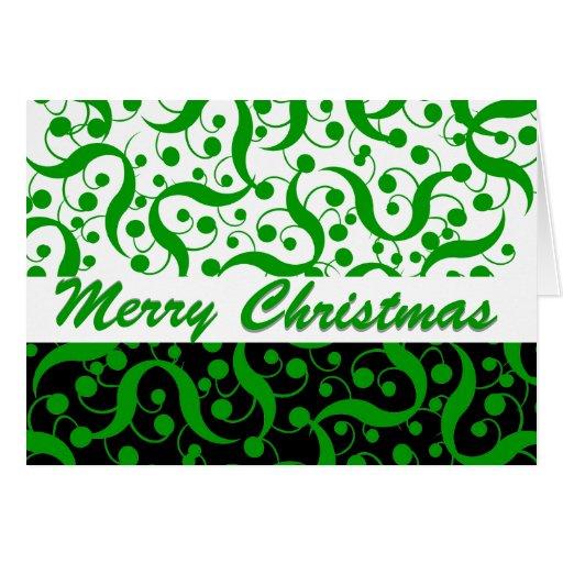 Saludo del navidad moderno tarjetas