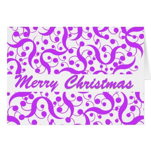 Saludo del navidad moderno tarjetón
