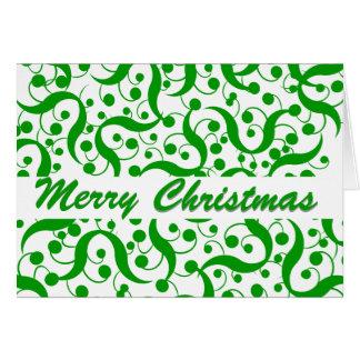 Saludo del navidad moderno tarjeta
