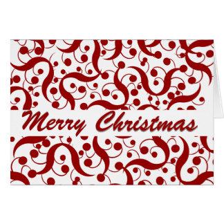 Saludo del navidad moderno tarjeta de felicitación