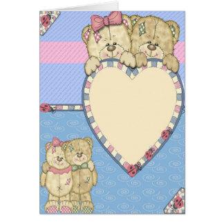 Saludo del oso del bebé tarjeta de felicitación