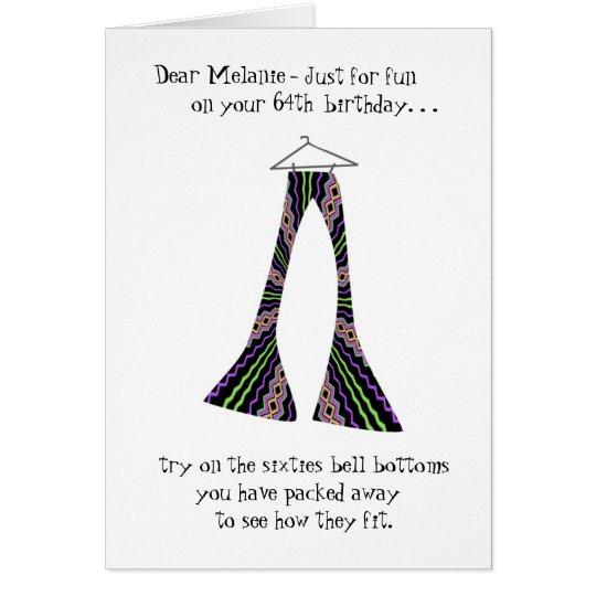 Saludo divertido del cumpleaños de las partes tarjeta de felicitación