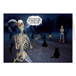 Saludo divertido del esqueleto el | Halloween Tarjeta De Felicitación