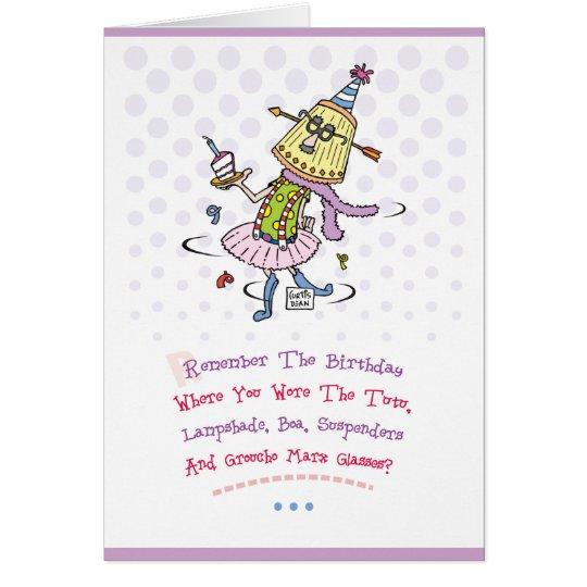 Saludo divertido del feliz cumpleaños tarjeta de felicitación