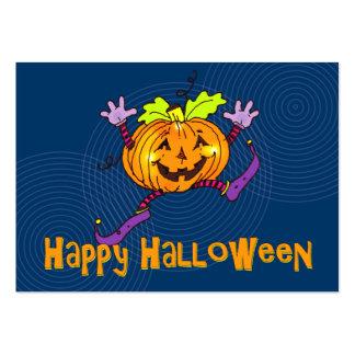 Saludo feliz de la calabaza de Halloween Tarjeta De Visita