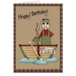 Saludo ido del feliz cumpleaños de Fishin Tarjetas