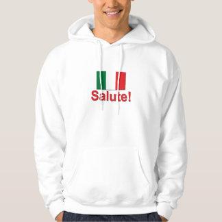 ¡Saludo italiano! (Alegrías!) Sudadera Con Capucha