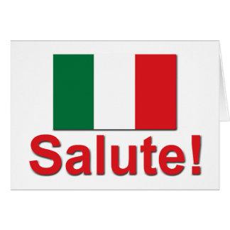 ¡Saludo italiano! (Alegrías!) Tarjeta De Felicitación