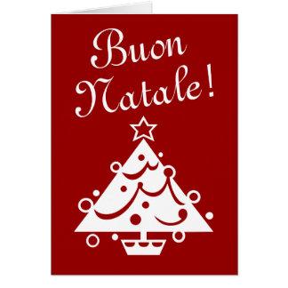 Saludo italiano de Navidad de la tarjeta de