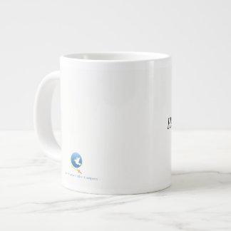 Saludo, lleno de tolerancia taza de café grande