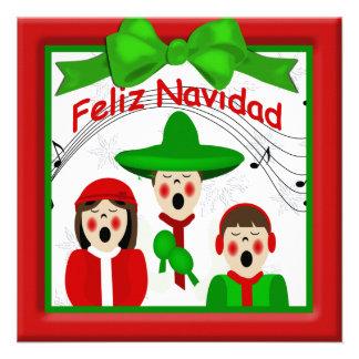 Saludo mexicano de la familia de los Carolers del Comunicados