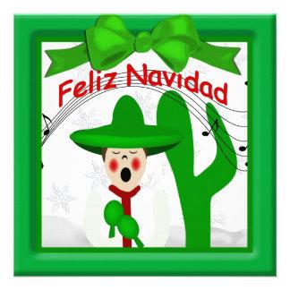 Saludo mexicano del hombre del Caroler del navidad Anuncio