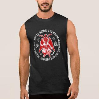 Saludo Satan Baphomet con las cruces satánicas Camisetas Sin Mangas