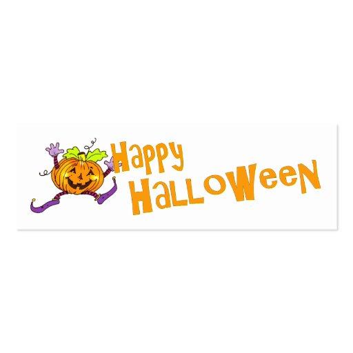 Saludo sonriente de la calabaza de Halloween Tarjetas De Visita