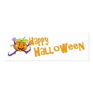 Saludo sonriente de la calabaza de Halloween Tarjetas De Visita Mini