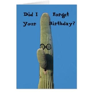 Saludo tardío divertido del cumpleaños tarjeta de felicitación