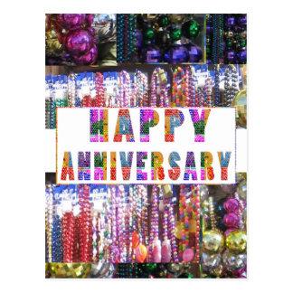 Saludos: Aniversario feliz de HappyANNIVERSARY Postal