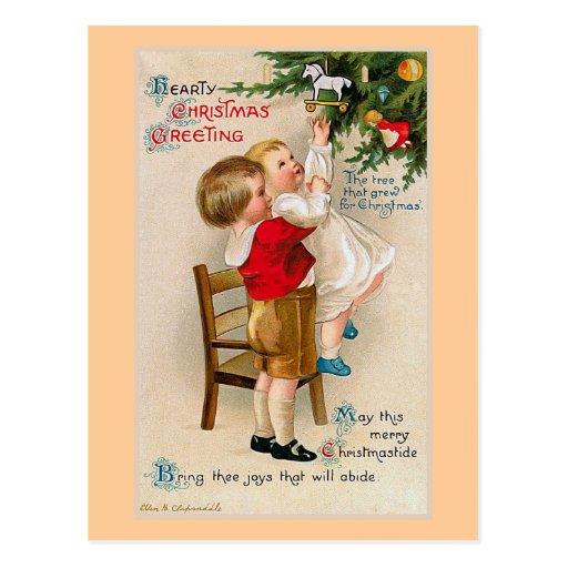 """Saludos calurosos de Navidad "" Tarjeta Postal"