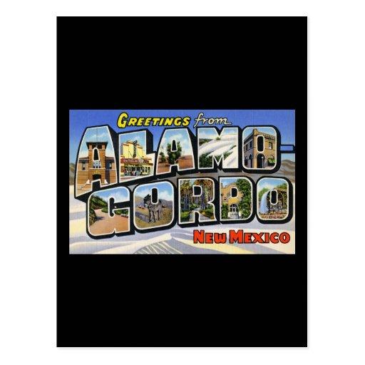 Saludos de Álamo Gordo New México Postales