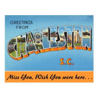 Saludos de Charleston Postales