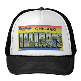 Saludos de Chicago Illinois Gorro De Camionero