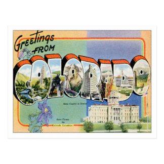 Saludos de Colorado CO Tarjeta Postal