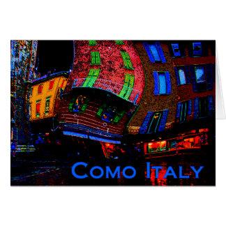 Saludos de Como Italia Tarjeta De Felicitación