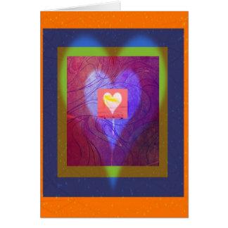 Saludos de corazones tarjeta de felicitación