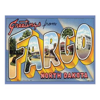Saludos de Fargo Dakota del Norte Tarjeta Postal