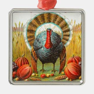 Saludos de la acción de gracias del vintage ornamento para arbol de navidad
